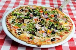 Supreme Pizza at Flip's in Oklahoma City, Monday, May 18, 2015. - GARETT FISBECK
