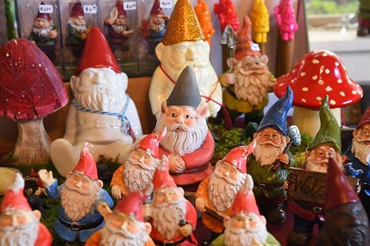 Gnomes at The Gardne Gnome Bonsai on N. Western Avenue, 9-29-15. - MARK HANCOCK