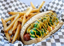 Chicago Dog at Cal's Chicago Style Eatery in Oklahoma City, Thursday, March 5, 2015. - GARETT FISBECK
