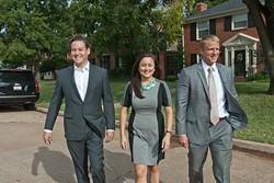 Democratic candidates from left, John Handy Edwards, Cyndi Munson and Collin Walke, photographed in the Crown Heights neighborhood. (Mark Hancock)