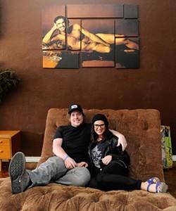 Drew and Anna Mains at Rockford Cocktail Den at 317 NW 23rd St. (Garett Fisbeck)
