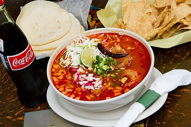 The posole roja at El Asadero brings customers in on the weekend.Photo/Shannon Cornman - SHANNON CORNMAN