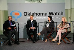 An Oklahoma Watch forum with Michael Brooks-Jimenez, Gloria Torres, and Meg Salyer at Capitol Hill Methodist Church in Oklahoma City, Thursday, April 16, 2015. - GARETT FISBECK