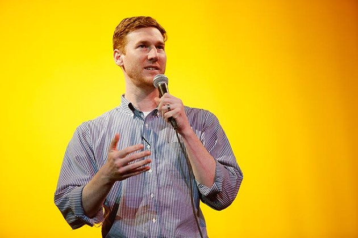 Comedian Spencer Hicks at the Sooner Theatre during Norman Music Festival, Thursday, April 23, 2015. (Garett Fisbeck)