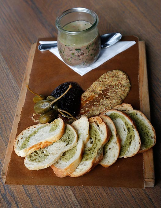 Duck Rillette at Packard's New American Kitchen in Oklahoma City, Friday, May 15, 2015. - GARETT FISBECK