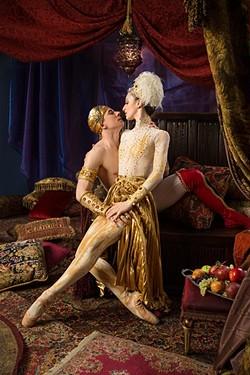 Photos by Shevaun Williams & Associates, Inc. - Dancers are Principal Alvin Tostovgray and Corps de Ballet Sarah Jane Crespo. - SHEVAUN WILLIAMS