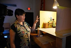 Nicole Emmons-Willis at Current Studios, Monday, April 4, 2016. - GARETT FISBECK