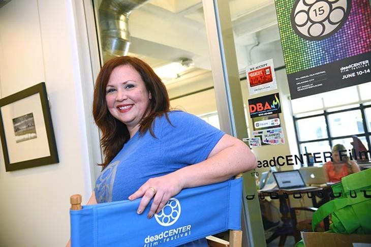 Kim Haywood, program director for DeadCENTER Film Festival in her office on Film Row. (Mark Hancock)