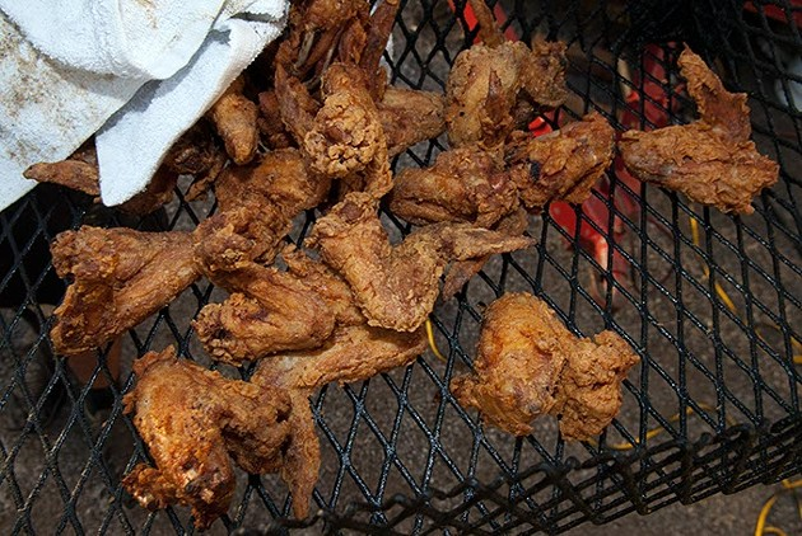 Bobo's chicken, it has a smokey taste, it's good.  mh
