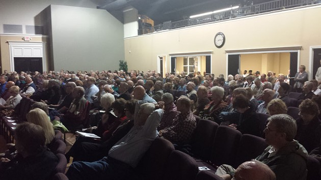 Hundreds gathered at Fairview Baptist Church in Edmond on Oct. 13 to hear lectures on the danger of Islam. - BEN FELDER