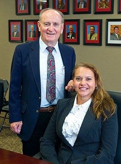 Oklahoma City Indian Clinic president  Dr. Everett Rhoades and CEO Robyn Sunday-Allen pause from a meeting for a quick photo during their busy schedules.Photo/Shannon Cornman - SHANNON CORNMAN