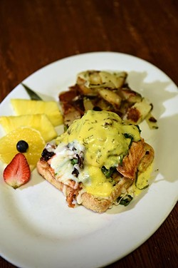 Salmon Club  at Joey's Cafe, 12325 N. May Avenue in Oklahoma City, 1-13-16. - MARK HANCOCK