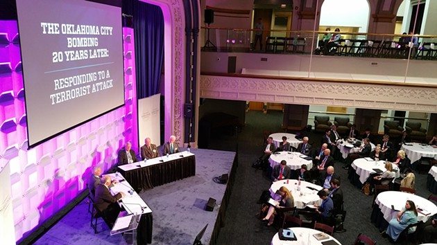 The National Summit on Homeland Security Law kicked off April 17 with a panel from former city leaders. - BEN FELDER