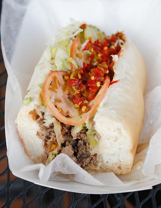 Steak Supreme Sandwich at Hobby's Hoagies in Oklahoma City, Friday, March 3, 2015. - GARETT FISBECK