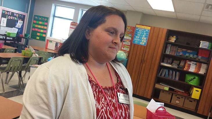 Ashley Desilva, a second-grade teacher at Shidler Elementary. - BEN FELDER