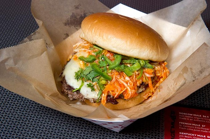 Spicy Sriracha Bleu Cheese Burger (Shannon Cornman)