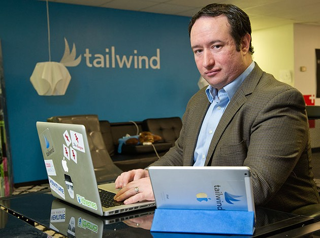 Danny Maloney, Tailwind founder, said internet speed and access could impact businesses large and small. (Garett Fisbeck)