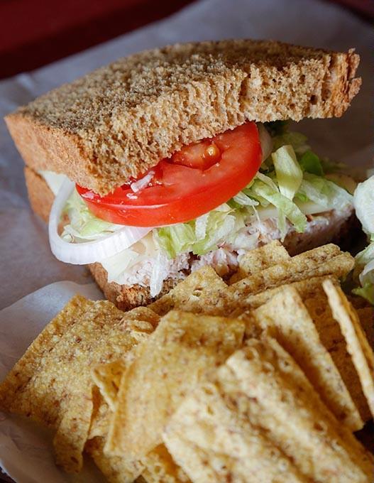 Turkey sandwich at Someplace Else in Oklahoma City, Aug. 27, 2015. - GARETT FISBECK
