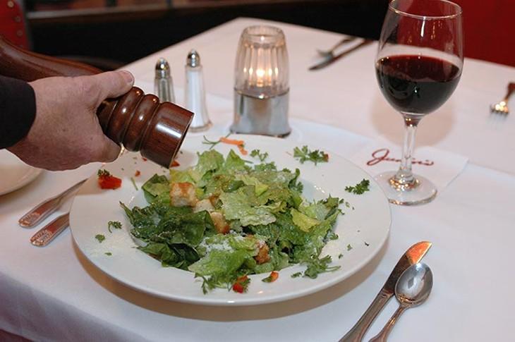 Ceasar salad, prepared tableside, at Junior's.  file, 1-23-2009. - SHANNON CORNMAN