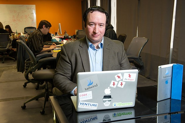Danny Maloney, founder of Tailwind, poses for a photo at his office in Oklahoma City, Friday, Nov. 21, 2014. - GARETT FISBECK