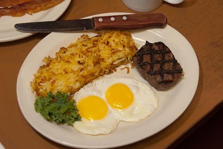 Steak and eggs at Cattleman's Steakhouse. (Mark Hancock / File)