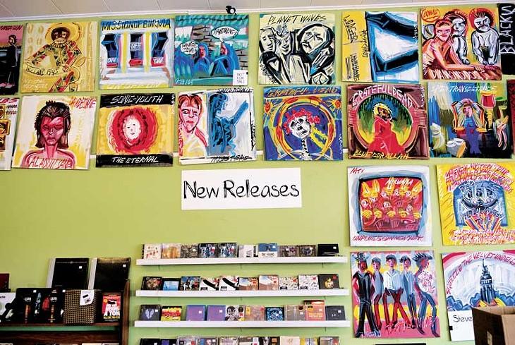 Steve-Keene-paintings-above-new-releases-01mh.jpg