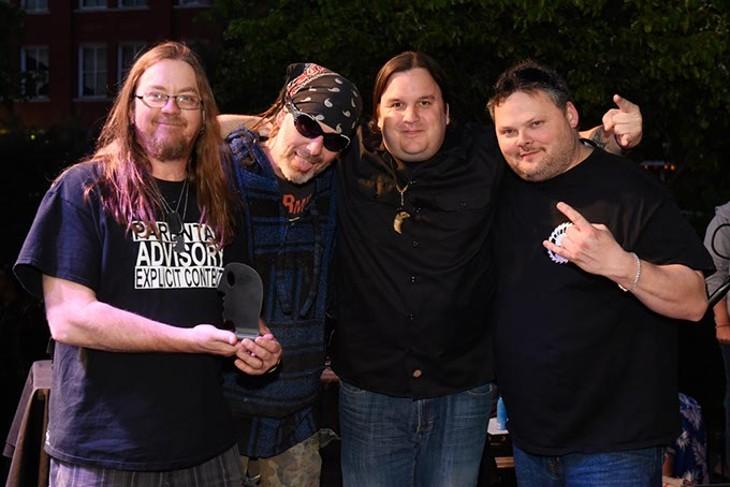 Left to Die for Best Metal during the Oklahoma Gazette Music Awards at Metro Music Fest, Friday, Apri 8, 2016. - GARETT FISBECK