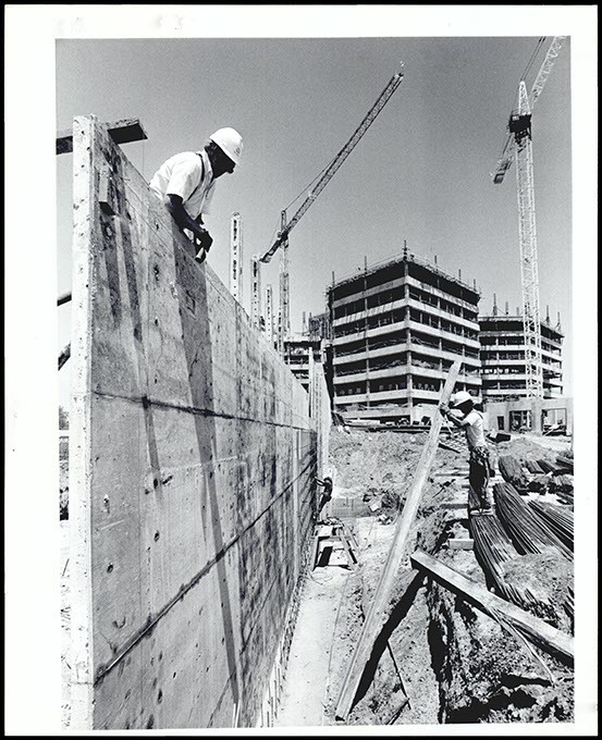 Jail construction was 36 percent complete in May 1990. A cash shortage impacted not only how it was completed, but its future. (Oklahoma Publishing Company Collection / Courtesy Oklahoma Historical Society)