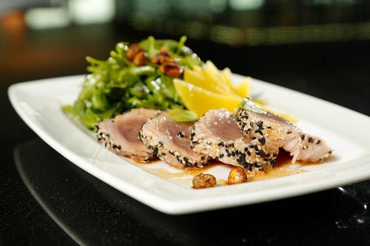 Sesame seared ahi tuna at The George. - GARETT FISBECK