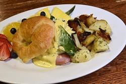Eggs Cordon Bleu at Joey's Cafe, 12325 N. May Avenue in Oklahoma City, 1-13-16. - MARK HANCOCK