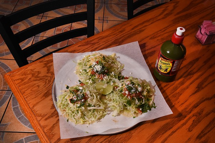 Tacos at Chiltepes, in the Plaza District of Oklahoma City, 1-19-16. - MARK HANCOCK