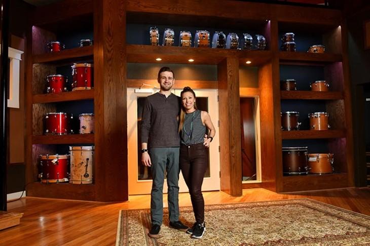 Garrett and Ashton Starks pose for a photo at Castle Row Studios in Del City, Monday, Feb. 29, 2016. - GARETT FISBECK
