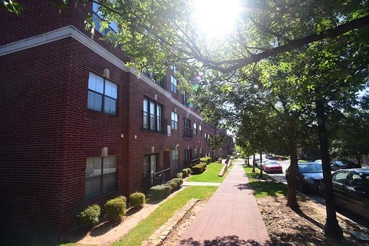 Deep Deuce Apartments, in the sun.  mh