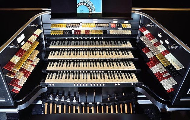 Overhead view of the restored Kilgen Wonder Organ, on exhibit at the Oklahoma History Center, 1-25-16. - MARK HANCOCK