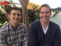 Rob Belushi and Jon Barinholz are LA-based improv duo Sheldon. - PROVIDED