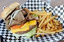 Gyro Burger at Cal's Chicago Style Eatery in Oklahoma City, Thursday, March 5, 2015. - GARETT FISBECK