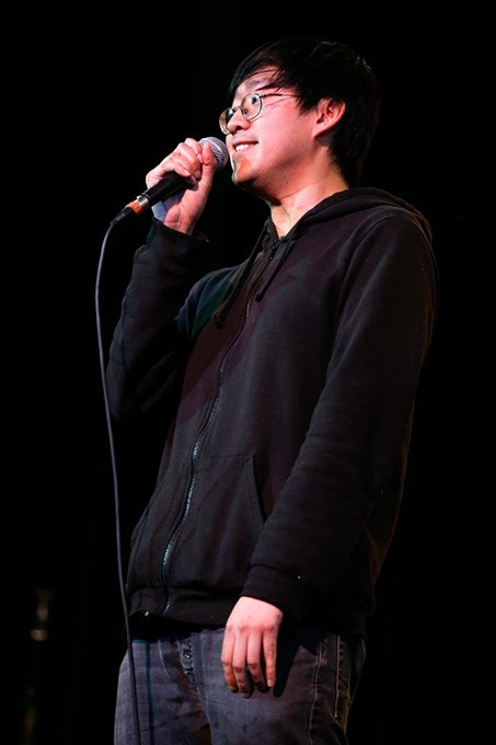 Comedian James Nghiem performs at the Sooner Theatre during Norman Music Festival, Thursday, April 23, 2015. (Garett Fisbeck)