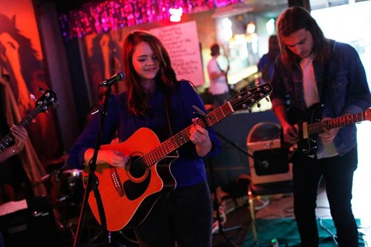 Autumn Ray performs at the Blue Bonnett Bar during Norman Music Festival, Thursday, April 23, 2015. (Garett Fisbeck)