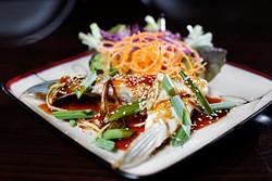Hamachi-Kama at Okura Sushi in Oklahoma City, Wednesday, Nov. 11, 2015. - GARETT FISBECK