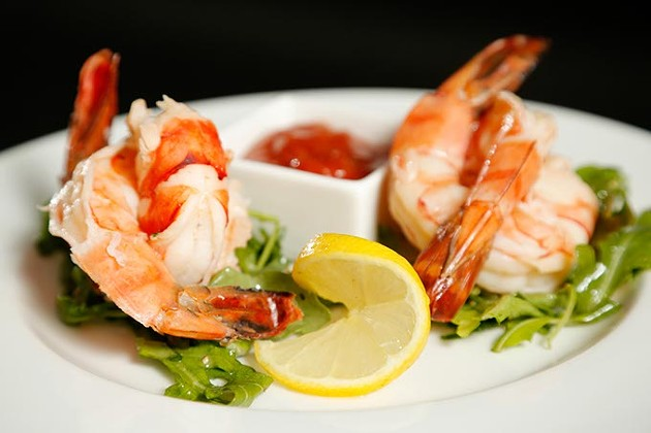 Shrimp cocktail at The George Prime Steakhouse in Oklahoma City. (Garett Fisbeck)