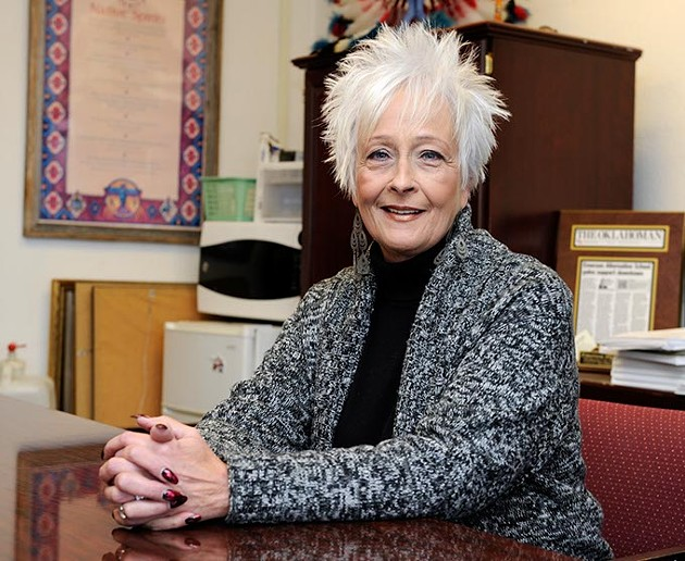 Sherry Kilshore, principal, poses for a photo at Emerson High School in Oklahoma City, Tuesday, Feb. 17, 2015. - GARETT FISBECK