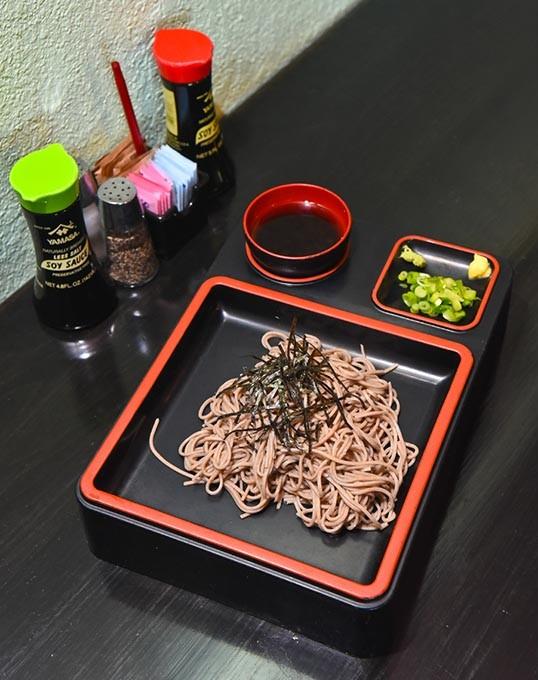 Cold soba noodles at Tokyo Japanes Restaurant.  mh