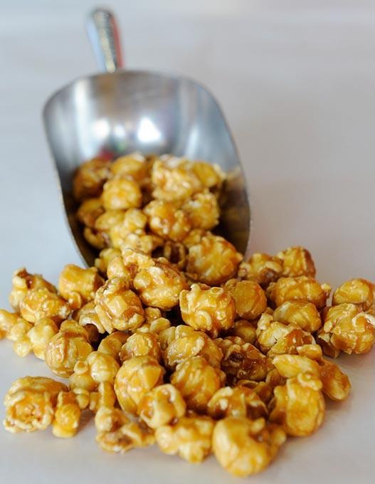 Caramel popcorn at Kernels & Kandies in Oklahoma City, Thursday, March 12, 2015. - GARETT FISBECK