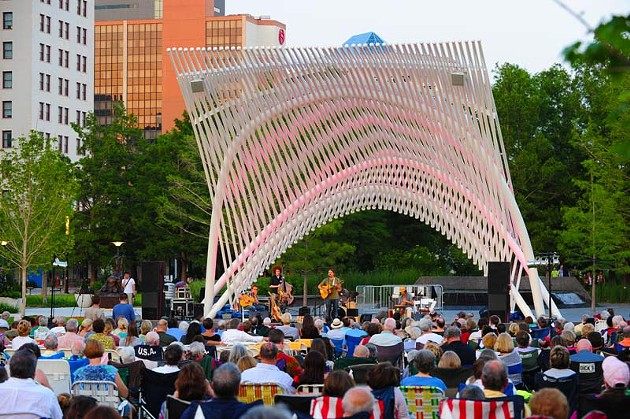 The Twilight Concert Series at the Myriad Gardens starts at 7:30 every Sunday night.Photo/Shannon Cornman - SHANNON CORNMAN