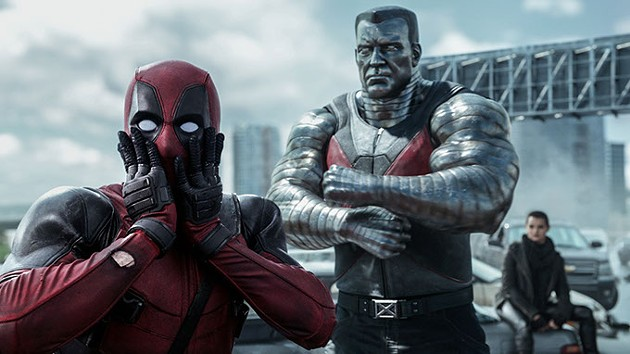 Deadpool (Ryan Reynolds) reacts to Colossus' (voiced by Stefan Kapicic) threats. - PHOTO CREDIT: COURTESY TWENTIETH