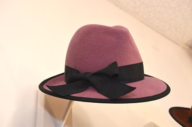 Woman's hat at Marla Cook Fine Millinery in the Paseo District of Oklahoma City, 12-17-15. - MARK HANCOCK