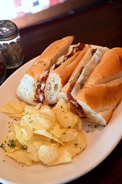 Chicken parmigiana sub sandwich at Sandro's New York Style Pizza & Pasta in Moore.  mh