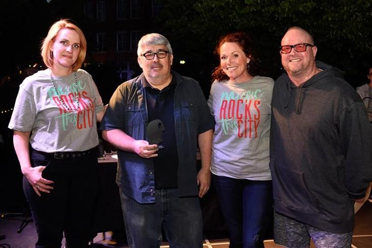 Rawson Music for Best Music Gear Store during the Oklahoma Gazette Music Awards at Metro Music Fest, Friday, Apri 8, 2016. - GARETT FISBECK