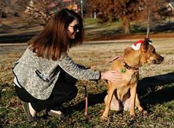 Allison Peterson walks Cabella at Flower Garden Park in Oklahoma City, Wednesday, Dec. 16, 2015. - GARETT FISBECK