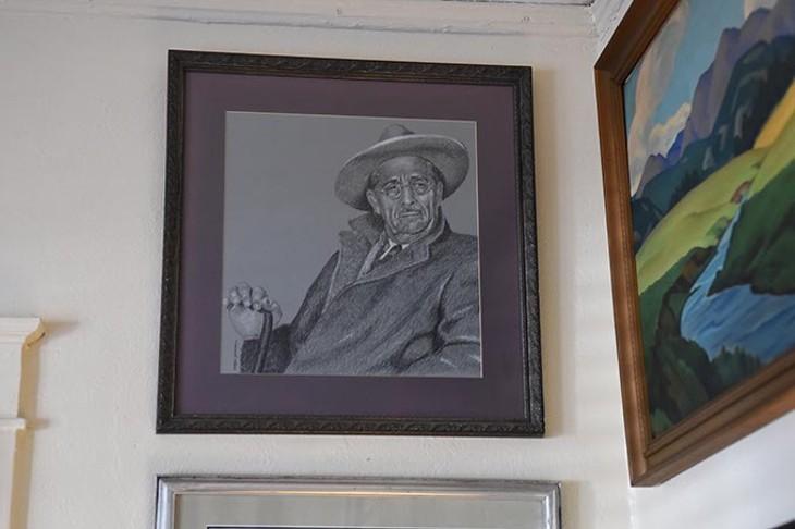 A student portrait of Oscar Brousse Jacobson. (Mark Hancock)